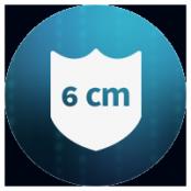 6 cm Surface de protection