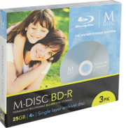 M-Disc BD-R 25GB Millenniata - 3-part slimcase