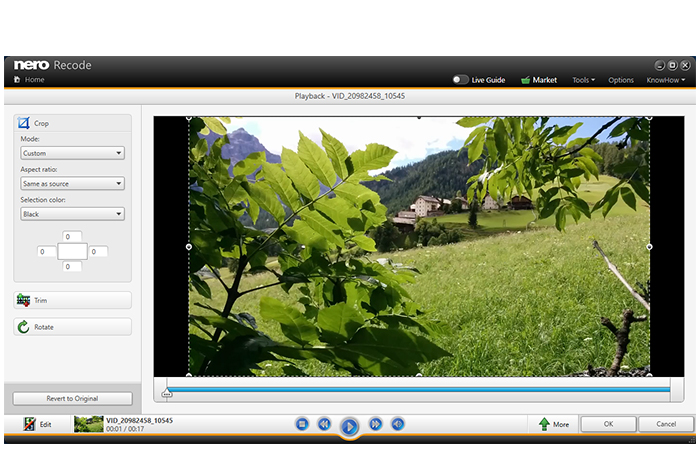 Utilize the user-friendly tools to rotate, crop, and shorten videos.
