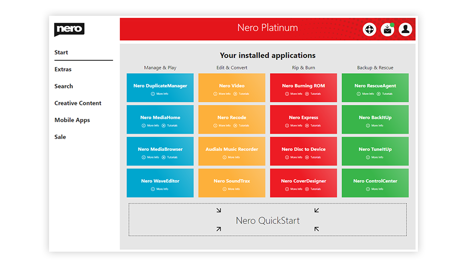 Nero Platinum Suite - Launcher