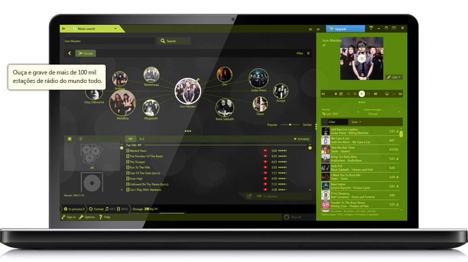 Music Recorder - Mais de 100 mil estações de rádio ao vivo