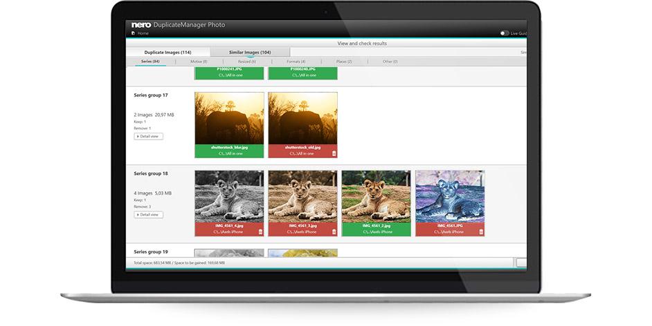 Nero 2019 Platinum Suite - Nero Duplicate Manager Photo