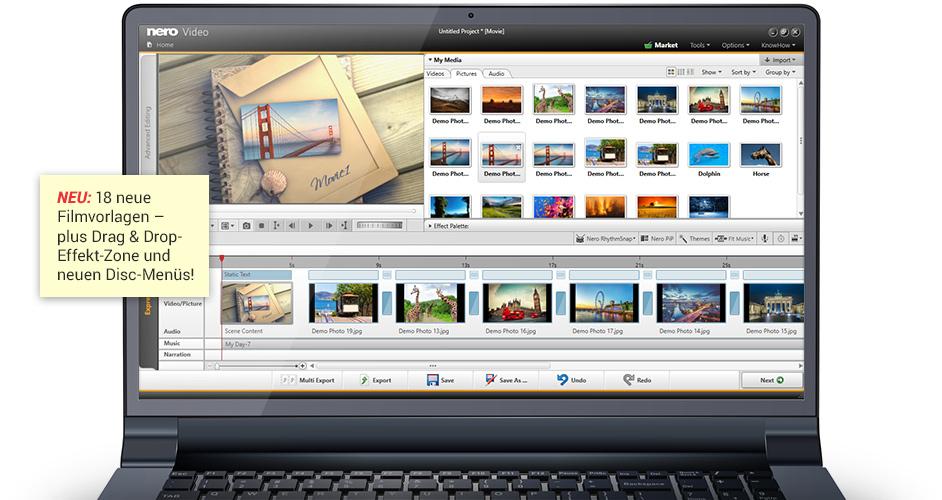 Nero Platinum 2018 Suite - Videobearbeitung